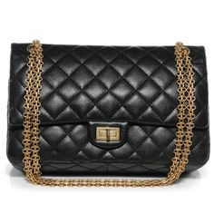 7b3c989fd6ca CHANEL Caviar 2.55 Reissue 226 Flap in Black. $4,900.00 (USD) / 11″ x 8″ x  3.5″ // 225 - $4400