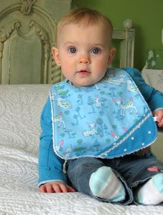 Baby bib cotton pretty prints of color square  by Dansmamaisonilya, $11.00