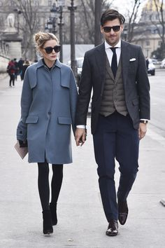 Fashion Arabic Style Illustration Description Olivia Palermo and Johannes Huebl arrive at the Valentino show as part of the Paris Fashion Week Womenswear Fall/Winter on March 2016 in Paris, France. Olivia Palermo Outfit, Olivia Palermo Street Style, Estilo Olivia Palermo, Olivia Palermo Lookbook, Fashion Week Paris, Winter Fashion, Fashion Mode, Work Fashion, Womens Fashion