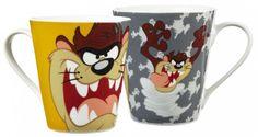 Looney Tunes Tasse in Geschenkverpackung Taz Looney Tunes, Mugs, Tableware, Gift Wrapping, Dinnerware, Cups, Dishes, Mug, Tumbler