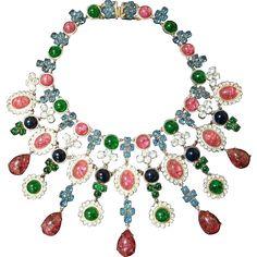 Breathtaking *CHRISTIAN DIOR Bib Necklace * Vintage Royalty Dated 1969 * Timeless Elegant Style