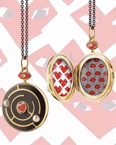 We're thrilled to announce Monica's latest collaboration with artist Donald Robertson (known in the art and fashion world as Drawbertson): The Love Locket. This locket marks our first collaboration for 'Art of The Locket', an ongoing project in which Monica works with talented artists to design a signature locket necklace that reflects their artwork. #lovelocket #enamellocket #pearls