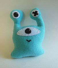 (dreamingofthemidway) Tags: cute monster toys weird paint handmade unique space alien felt aliens plush plushies softies fabric stuffedanim...