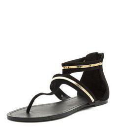 Exclusives New Look Black Metal Bar Strap T-Bar #sandals #covetme #fashion #fbloggers #OOTD #Love