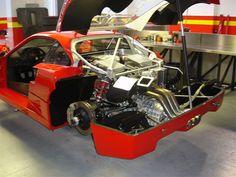 Ferrari F40 LM Competizione rear engine detail wheels off Serial Number 97881
