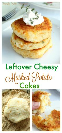 Let's Make Leftovers Great Again! Leftover Cheesy Mashed Potato Cakes are crispy on the outside and have a cheesy creamy mashed potato texture on the inside. It's the most delicious way to use up leftover mashed potatoes. Mashed Potato Cakes Leftover, Fried Mashed Potatoes, Mashed Potato Recipes, Potato Dishes, Mashed Potato Fritters Recipe, Fried Mashed Potato Patties, Fried Potato Cakes, Leftover Potatoes, Cheesy Potatoes