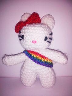 Hello Kitty amigurumi LGBT causes Rainbow  - Se ti piacciono chiedi informazioni a pepiscrochet@gmail.com