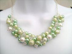 Fancy green necklace
