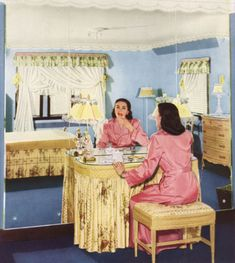 1950s Decor - Dressing Tables and the preparation of going out
