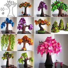 Make These Beautiful Felt Trees for Your Home - http://www.amazinginteriordesign.com/make-beautiful-felt-trees-home/