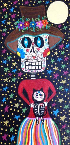 Kerri Ambrosino Original Art 8x16 Mexican Folk by kerriambrosino, $125.00