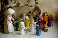 Waldorf inspired needle felted dolls: Mother Earth and Her Children (Sibyle Von Olfer's)