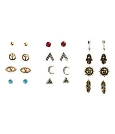 Check this out! Metal stud earrings. Size approx. 1/4 - 1/2 in. - Visit hm.com to see more.