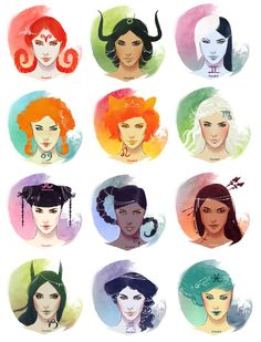 Ladies of the zodiac