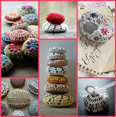 Crocheted Stones. I really ♥ⓛⓞⓥⓔ♥ the colorful granny square ones.