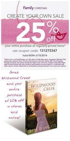 What's better than a new book and a coupon for 25% off on your entire purchase?  Thank you, Family Christian Stores!