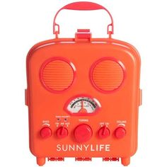 Beach Sounds Portable Radio & Speakers (Red)