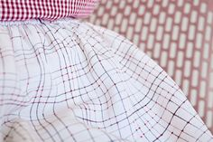 """Hand painted """"DOT, LINE"""" skirt.    Lineland, Flatland, The Dot and the Line, Intersection, Space, Orthogonal."""