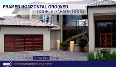 Tired of the same old garage door designs? Our Framed Horizontal Grooved design garage doors from our Timba-dor™ Range are definitely the kind of garage doors that will have heads turning. We treated this door with a Deep Brown oil to enhance the richness of this door and added a d-force™ Automatic Overhead Garage Door Opener for added convenience. www.doorzonesa.com