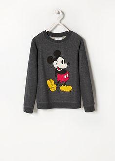MANGO Mickey sweatshirt