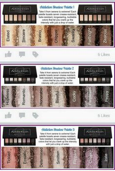 New palettes of eye mineral shadows you can put on wet for a pop of color, or dry for a spot look!