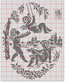 Gallery.ru / Фото #43 - Wolf & Dupeyron 1 - gabbach Crochet Angel Pattern, Crochet Angels, Hand Embroidery Designs, Embroidery Patterns, Cross Stitch Patterns, Filet Crochet Charts, Crochet Stitches, Fillet Crochet, Cross Stitch Angels