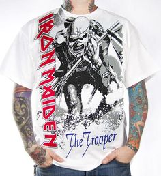 Iron Maiden, T-Shirt, The Trooper White