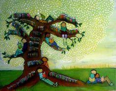 Tree of Books by Johanna Wright