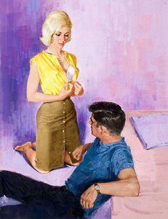 Harry Barton Vintage Pulp Art Illustration | Female-Centric Pulp Art | Sugary.Sweet | #Pulp #Art #Illustration