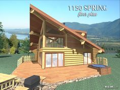 The spring project is a unique design that offers a comfortable open floor plan with a cozy loft where you kick back and enjoy the view from the spacious gable. The massive Western Red Cedar roof logs feature natural flares Another gorgeous log cabin design😍 #logcabins #postandbeam #loghomebulders #logcabinlove #floorplans #uniquedesigns #vacationhomes #loghomesofinstagram #naturallypassive #customloghomes #loghomefloorplans #loghomelove #loghomelife Cedar Roof, Log Home Floor Plans, Log Cabin Designs, Timber House, Post And Beam, Western Red Cedar, Log Homes, Building Design, Custom Design