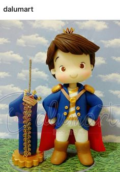 Prince Little Prince Party, Polymer Clay Disney, Baby Boy Birthday, Royal Prince, Cakes For Boys, Gisele, Creative Cakes, Sandro, Biscuits