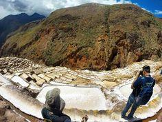 Maras salt mines Cusco #cusco #minasdesal #maras #peru #salt #landscape #triplookers #trippics #fuiefomos #wildernessculture #hike365 #vcmochilando #prefiroviajar #theoutdoorfolk #viajeibonito #viajeros #backpack #mochilao #tripaddicts #beahero #gopro by marciosauro