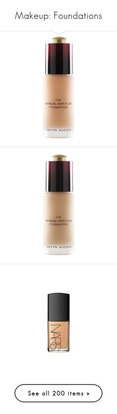 """""""Makeup: Foundations"""" by katiasitems on Polyvore featuring beauty products, makeup, face makeup, foundation, oil free foundation, anti aging foundation, kevyn aucoin foundation, long wear foundation, kevyn aucoin and long wearing foundation"""