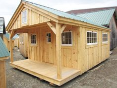 The 12' x 18' Bunk House makes an excellent offgrid cabin. Eco friendly…