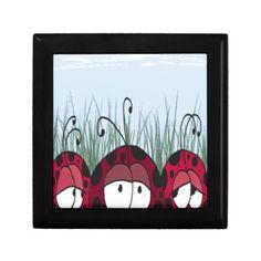 The Three Amigos Trinket Box. Artwork designed by #OneArtsyMomma. #ladybirds #ladybugs