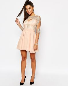 Image 4 of Missguided Lace Sleeve Prom Dress