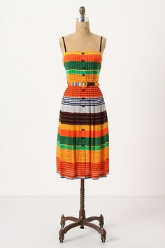 Anthropologie Striped Stripes Dress--love the bright, beach-ready COLORS! India Fashion, Love Fashion, Fashion Models, Dress Fashion, Cute Dresses, Beautiful Dresses, Summer Dresses, Dress Outfits, Cute Outfits