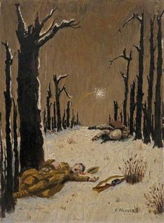 Bourlon Wood, Somme, by S. Weaver, painted in 1917.: