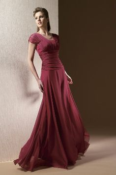 Red vintage prom dress. I really like this; It's slimming and modest. :)