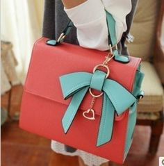 This is a really great bag, because of the color blocking feel with the pink and blue. #Loveit