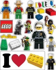 LEGO custom sticker or magnet page. I can have my little ones make up a list of words or sentences to build for the characters and make a fridge magnet set! #LegoDuploParty