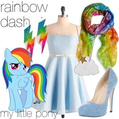 """Rainbow Dash - My Little Pony"" by lilyelizajane on Polyvore"