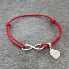 Infinity Love Bracelet Red, 19€, now featured on Fab.