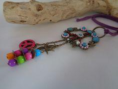 """Charm- & Bettelketten - Boho Hippi Kette """"Peace"""" - ein Designerstück von Karins-Herzstueke bei DaWanda"""