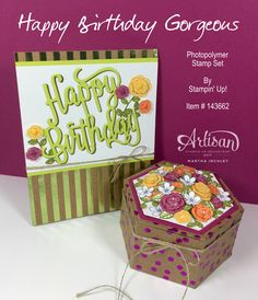 Hello and welcome to another Artisan Design Team Blog Hop. This week we are featuring the Happy Birthday Gorgeous stamp set.   If you're a...