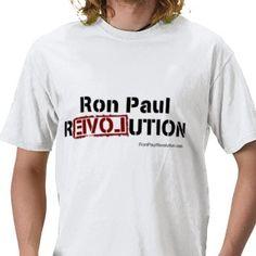 Ron Paul Revolution Tee T Shirts