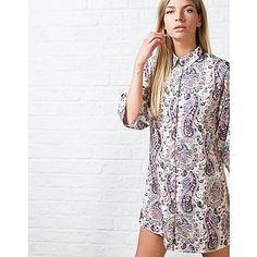#ARKLOVES Oversized shirts for summer : Ark Maine Paisley Shirt Dress