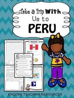 Take a Trip With Us to Peru- Grade 3 Social Studies Communities in the World Social Studies Worksheets, Teaching Social Studies, Teaching Kids, Teaching Resources, Design Set, Social Studies Communities, Free Spanish Lessons, Culture Day, Geography For Kids