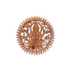 NOVICA Balinese Artisan Carved Ganesha Wood Relief Panel (€80) ❤ liked on Polyvore featuring home, home decor, wall art, brown, relief panels, wall decor, wooden home decor, wooden panels, balinese home decor and wood wall art