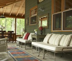Stylish Cottage Porch    Embrace the indoor/outdoor trend with a porch that doubles as a living room.